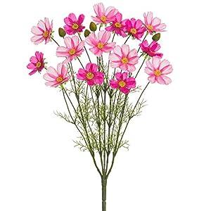 "Silk Flower Arrangements 23.5"" Silk Cosmos Flower Bush -Lavender/Orchid (Pack of 12)"