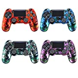 YTTL® 4 Pack of High Quality Premium Super Grip Silicon Protective Skin Case Cover for Sony Playstation 4 PS4 Remote Controller
