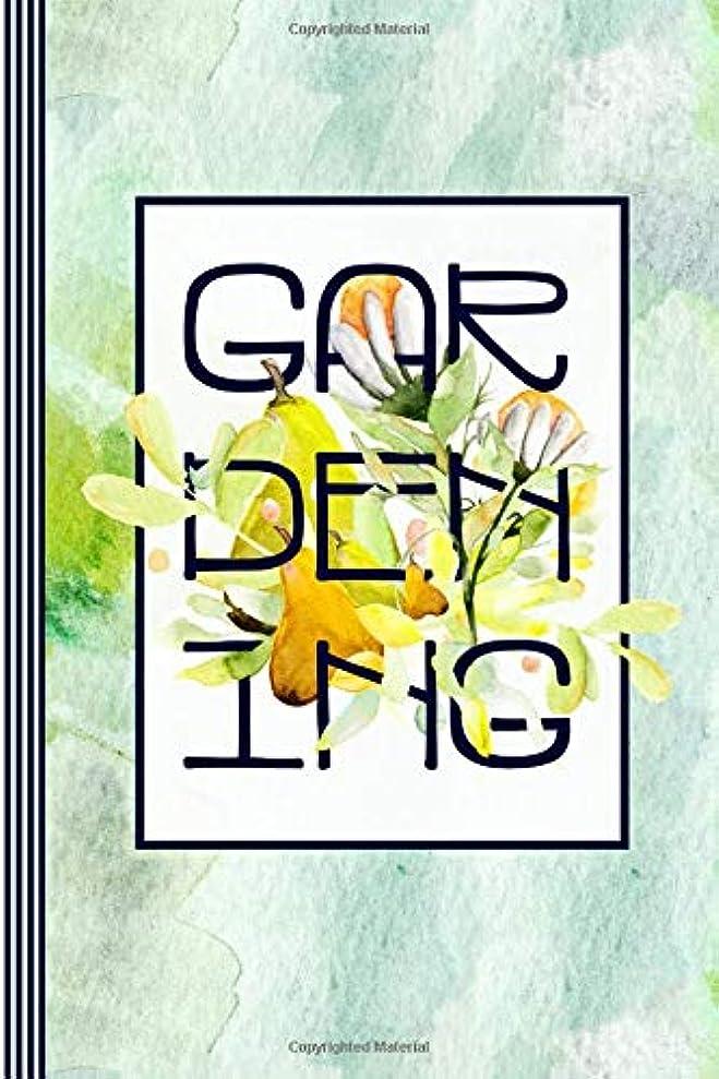 チェスをする接続詞さようならGardening: Gardener Journal - Blank Graph Paper 5x5 Grid Composition Notebook - Typography Green Watercolor Fruits Flower Art Illustration