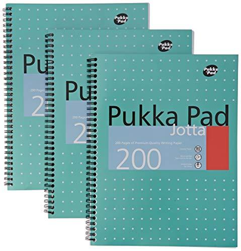 Pukka Pads A4 Metallic Jotta Wirebound Notebook (Pack of 3)