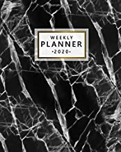 Weekly Planner 2020: Pretty Weekly & Daily 2020 Organizer, Schedule Agenda & Diary | Nifty Inspirational Quotes & Funny Holidays, To-Do's, Vision Boards & Notes | Abstract Black & White Marbled Print