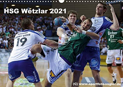 HSG Wetzlar - Handball Bundesliga 2021 (Wandkalender 2021 DIN A3 quer)