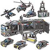 WYSWYG City Polizei Spielzeug Bausteine, 1022 Teile 8 in 1 Polizeistation...