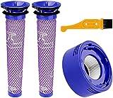 Paquete de 2 filtros lavables de repuesto compatibles con Dyson V10 Aspiradora Inalámbrica Cyclone Animal Absolute Total Aspiradora Color : Estilo a) Filtros Cepillo (Color: Estilo a)