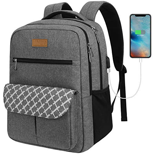 Laptop Backpack for Men and Women, BARST School College Backpack for Teens Student, Travel Backpack with USB Charging Port Fits 15.6 Inch Laptop