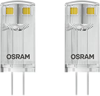 Osram 4058075812314a + +, LED Star Special Pin/–Bombilla LED con G4socket de de–2700K/2unidades), plástico, 0.9W, blanco cálido, 3.3x 1.2x 1.2cm