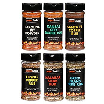 Steven Raichlen Project Smoke BBQ Spice Rub Seasoning Combo Gift Pack - 6 Pack World Wide Barbecue - USA and International Barbecue Flavors Perfect Fathers Day Gifts for Dad