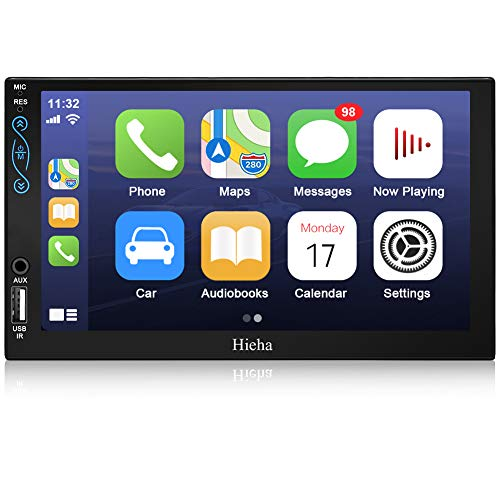Hieha 7 in Car Stereo Compatible with Apple CarPlay and Android Auto, Double Din Standard Universal...