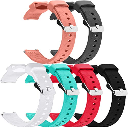 18MM Bands Compatible with Fossil gen 5E 42MM Watch Band, Silicone Replacement Wristband Sport Straps Compatible with Fossil Gen 4 Venture/Fossil Q Venture Gen 3