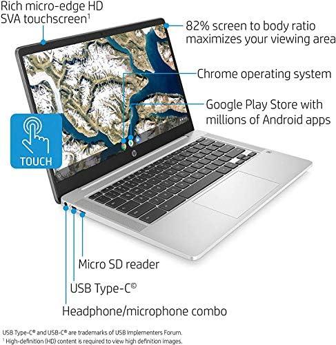 HP Chromebook 14-inch HD Touchscreen Laptop, Intel Celeron N4000, 4 GB RAM, 32 GB eMMC, Chrome (14a-na0080nr, Forest Teal) (Renewed) WeeklyReviewer