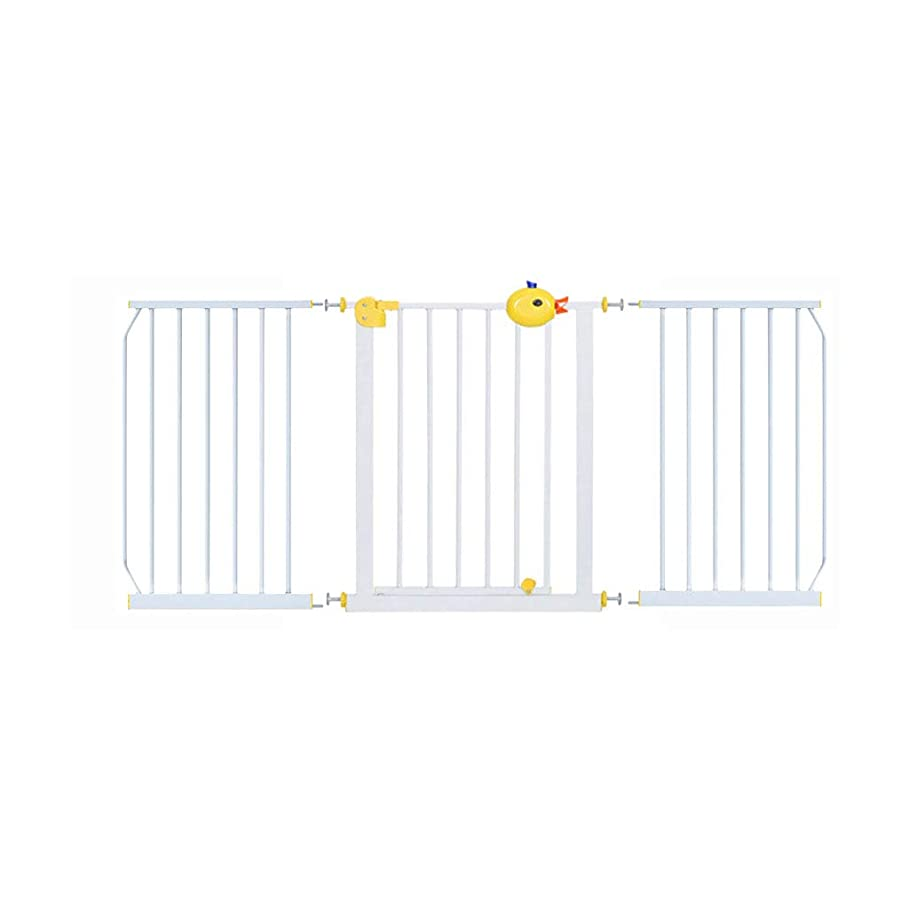 アラバマ支援あるQIQIDEDAIN 子供のための安全障壁バルコニー犬のためのキッチン安全門隔離扉赤ちゃん階段手すり黄色 (Size : 156-164cm)