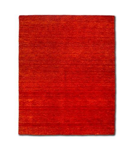 Morgenland Gabbeh Teppich Rost UNI Einfarbig Handgewebt Schurwolle 400 x 80 cm Läufer