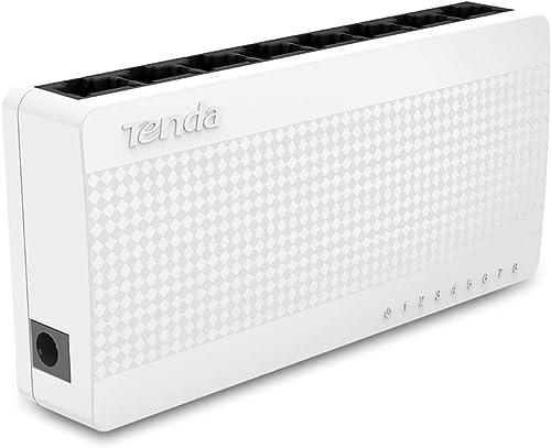 Tenda S108 Switch 8 Ports Mégabit 10/100 mbps (Ports RJ45, Hub RJ45, Auto MDI/MDIX, Auto-négociation, Plug and Play, ...