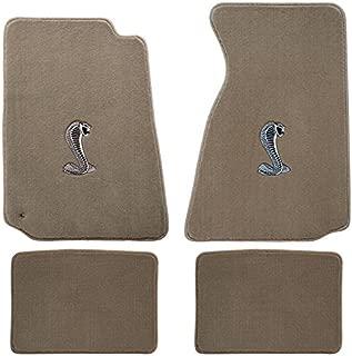 94-04 Ford Mustang Parchment Carpet Floor Mats w Cobra Emblem
