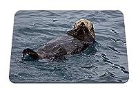 26cmx21cm マウスパッド (カワウソ水泳ウェット) パターンカスタムの マウスパッド