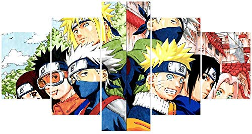 Naruto Poster Classes Of Minato And Kakasi Anime Wall Five Lotus Painting Art Painting Unframed For Home Canvas Five…