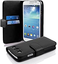 Cadorabo Case Works with Samsung Galaxy MEGA 5.8 in Oxid Black (Design Book Structure) – with 2 Card Slots – Wallet Case Etui Cover Pouch PU Leather Flip