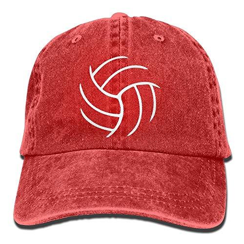 AOHOT Classic Hombre Mujer Gorras de béisbol,2019 Adult Fashion Cotton Denim Baseball Cap Volleyball Printed Classic Dad Hat Adjustable Plain Cap