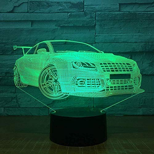 Sports Racing Car 3D Usb Led Night Light 7 Colors Illusion Lamp Touch Or Remote Control Children S Room Lamp Worldwide Stereo Light