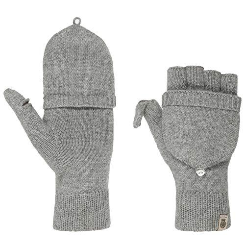 Roeckl Strickhandschuhe Fingerlose Handschuhe Merino Winterhandschuhe (One Size - hellgrau)