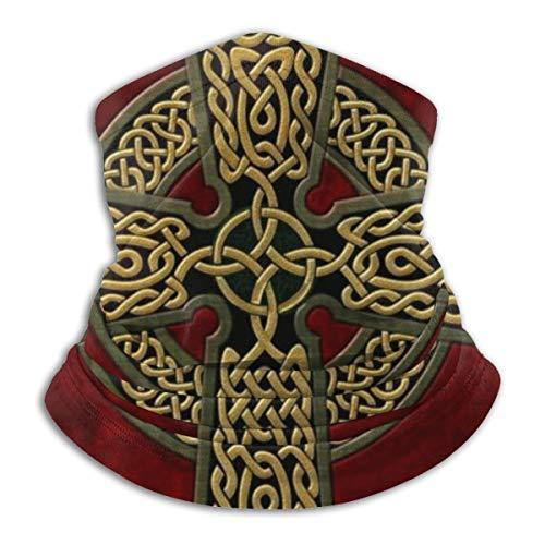 Celtic Cross Neck Gaiter for Men Women, Bandana Headwear Head Wrap Scarf Face Mask Balaclava Black