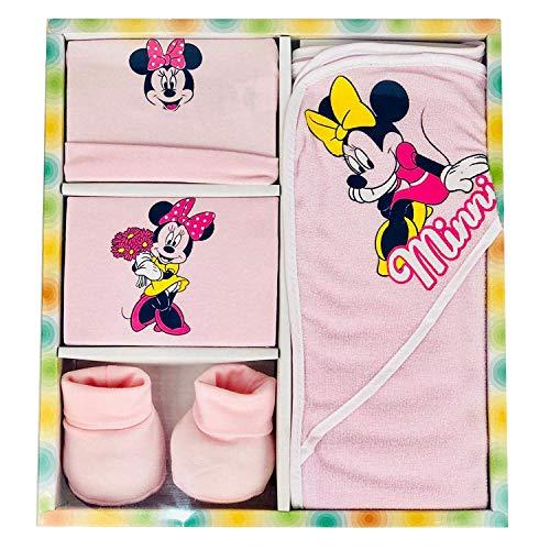 Set regalo nascita Disney accappatoio + cuffia+ scarpine + bavetta