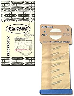 EnviroCare Replacement Vacuum Bags for Electrolux Style U Discovery Uprights 12 Pack