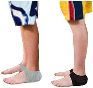 HealthyNees Kid's 2 Pairs Combo Set Foot Heel Arch Pain Pressure Neoprene Gel Silicone Cushioning Sleeve (Kids)