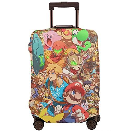 Pikachu Legend Cartoon Zelda Mario Maleta Funda Protectora Banda Elástica Caja Protectora Anti-arañazos Las Mangas Elásticas Gruesas son Fácil de limpiar, Impreso Elegante y Lindo