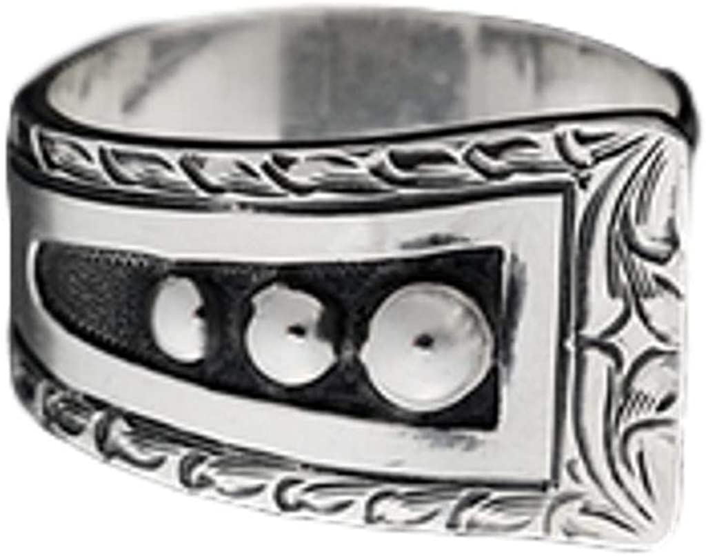 Vogt Max Free shipping 48% OFF Silversmiths Womens Hand Engraved Center Beaded With Ring