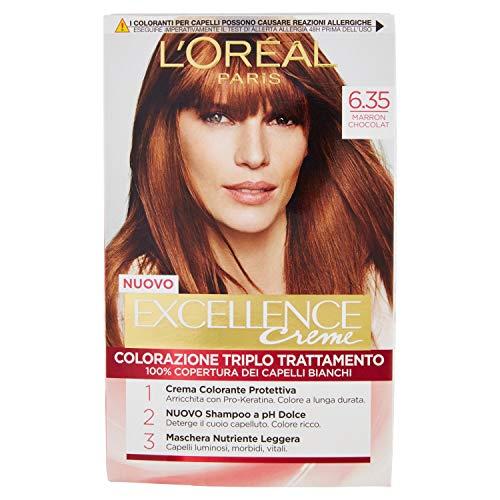 Haarfärbemittel per capelli excellence creme n 6/35 marron chocolat
