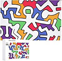 Tuanzi 500/1000ピース 木製パズル Puzzle キースへリング 壁飾り ジグソーパズル スジグソーパズル パズル絵画 知育玩具 Jigsaw インテリア ウォールアート 壁の装飾 プレゼント コレクション 親子ゲーム おもちゃ 収納ケース付き TOYS