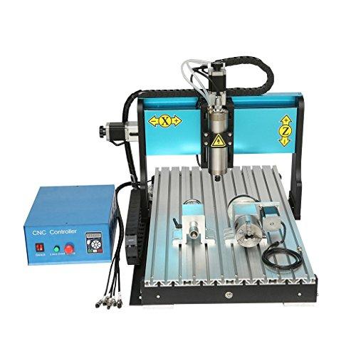 Rhegeneshop 110V 800W 4 AXIS 6040 CNC Router Engraving Drilling Milling Machine USB Port