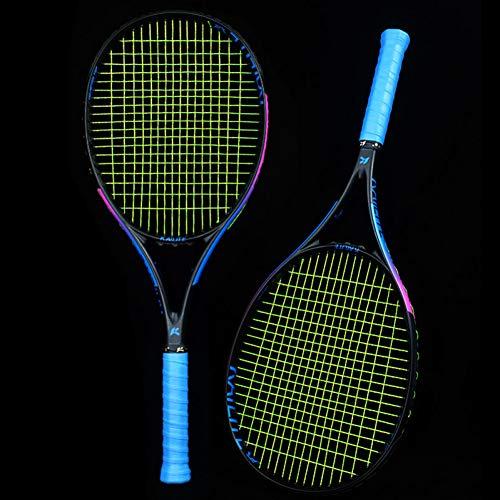 MLPNJ Raqueta de Tenis Profesional de Fibra de Carbono Completa 275g para Hombres Adultos Mujeres con Bolsa de Raquetas de Carbono ultraligeras Superiores Padel