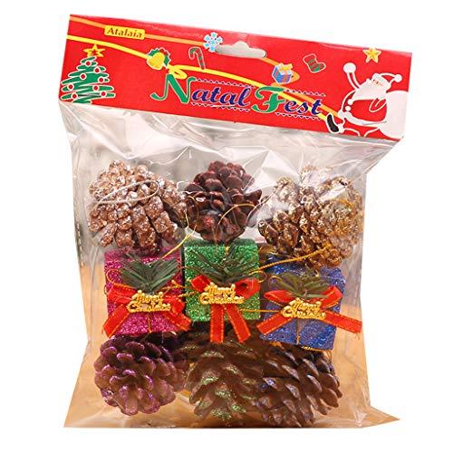 WT-DDJJK Decoración navideña, Color de Conos de Pino Natural, Lodge Adornos Decorativos para árboles de Navidad Decorativos, Black Friday Sales 2020