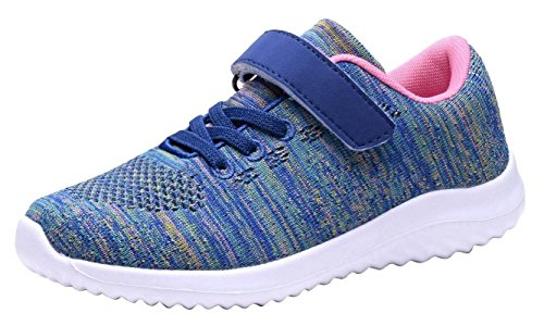 Umbale Girls Fashion Sneakers Comfort Running Shoes(Toddler/Kids) (Purple, Numeric_13)