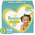 108-Count Pampers Swaddlers Disposable Baby Diapers, Size 6