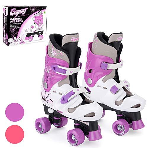 Osprey Quad Skate Rollschuhe für Mädchen, Pattini Bambina, Viola, 32-36 EU