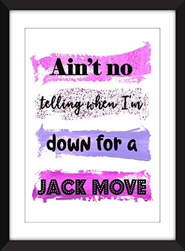 NWA Straight Outta Compton/Jack Move Lyrics - Unframed Print/Ungerahmter Druck