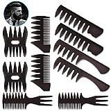 Set di 10 pettini per capelli Set per lo styling Accessori da barbiere per parrucchiere, kit di spazzole YuCool Barber per la modellazione professionale