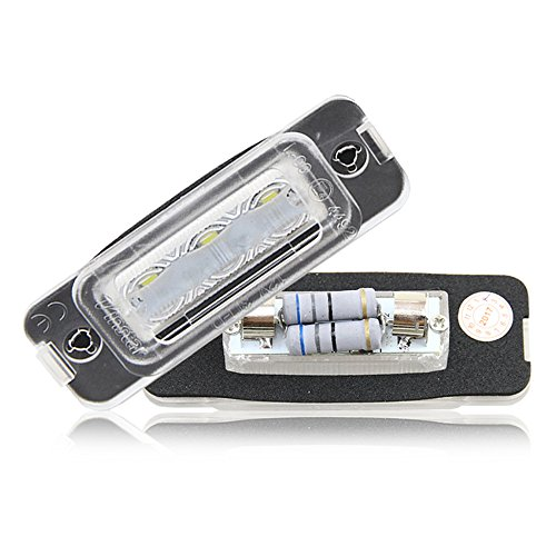 2x Blanco de la matrícula Lámpara 12V Super blanco lámpara apto MB W164X164W251Styling Cola Trasera de Coche lámparas