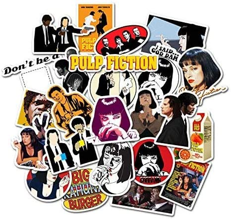 Pulp Fiction Stickers Pack of 50 Stickers for Laptops Stickers for Water Bottles Waterproof product image
