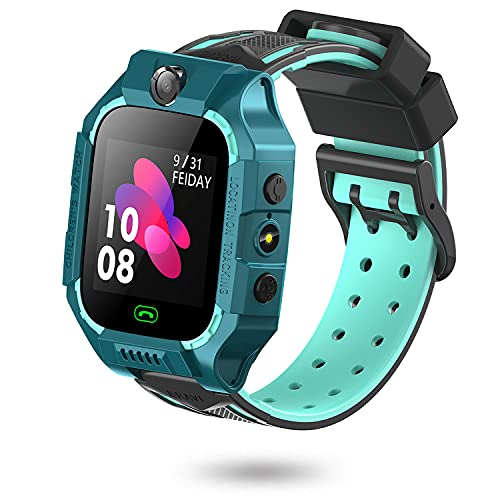 Smartwatch für Kinder, Uhr Telefon für Mädchen Jungen mit 8 Spiele Touchscreen Musik Video Player Kamera Taschenlampen Wecker Aufzeichnung Telefonieren Geschenk (Grün)