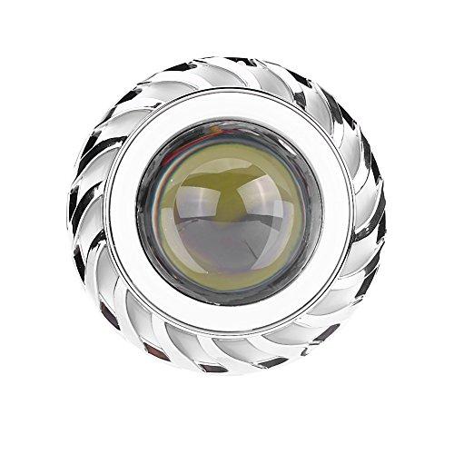 Fari Per Motocicli A Led Lampadine, Fari Proiettore Lente Lampada Lampadina Fascio Alta/Bassa Fascio Dc 12-80v Con Angelo E Devil Eye(White & Blue)
