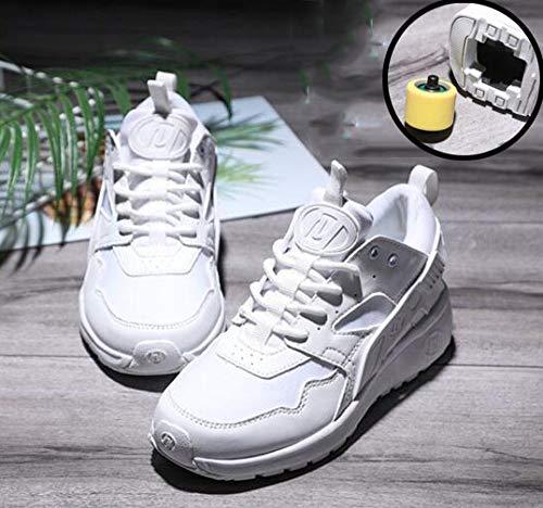 llh Chaussures à Skates Patins à roulettes Skateboard Extensible Gymnastique Baskets Roues Simples Garçons Et Filles Enfants Respirant Patins à roulettes Mode Chaussures,White-39
