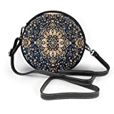 BAODANLA Bolso redondo mujer Shoulder Bags Women Round Bags Oriental Wave Collection Tabriz (1) Crossbody Leather Circle Bag
