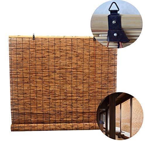 GDMING Rietgordijn, bamboe blinde Romeinse tinten buiten partitie gordijn raamdecoratie rolgordijn blinde muur Hang Balkon, ondersteuning aanpassing