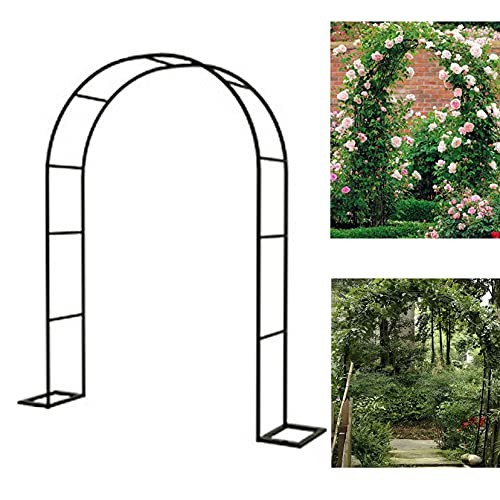 LBYDXD Arco per Rampicanti Giardino Semicircolare, Arco Giardino per Rose Metallo Alto, per Piante rampicanti, Rose, Viti, Giardino, Cortile, Cortile, Matrimonio, Bianco e Nero