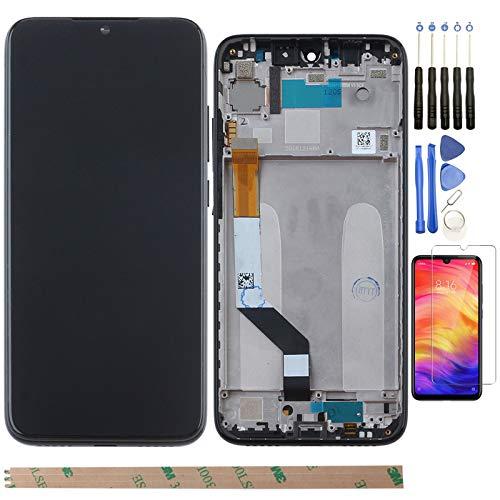 YHX-OU 6.3  per Xiaomi Redmi Note 7 M1901F7E M1901F7C M1901F7H Redmi Note 7 PRO di Riparazione e Sostituzione LCD Display Touch Screen Digitizer+ con Utensili Inclusi (Nero+Telaio)