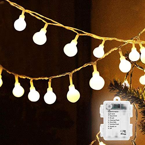 Cadena de luces LED de 6 m de luz blanca cálida, 50...